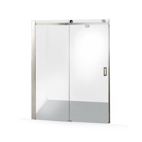 ALEKO Glass Sliding Shower Door 48 x 72 Inches Stainless Steel