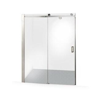 ALEKO Glass Sliding Shower Door 48 x 72 Inches Stainless Steel