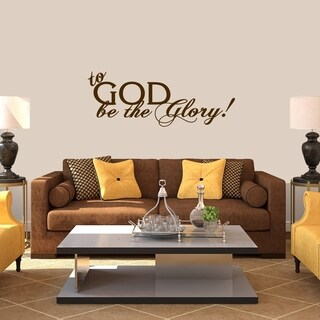 To God Be The Glory Wall Decal - MEDIUM
