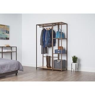 TRINITY Modular 2 Piece Set Bamboo Closet Organizer - Bronze Anthracite