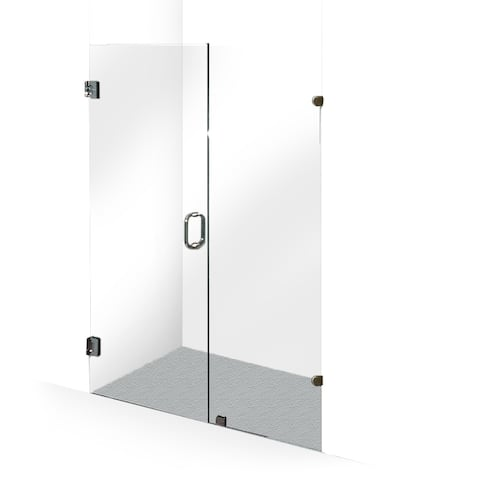 ALEKO Glass Hinge Shower Door 60 x 76 Inches Chrome
