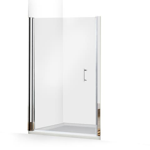ALEKO Glass Pivot Shower Door 48 x 72 Inches Chrome