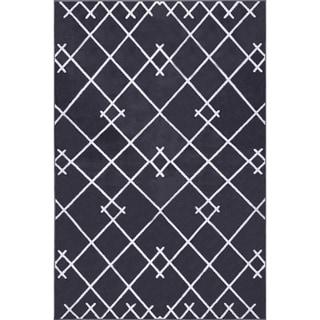 Edgemod Coyer Geometric Area Rug in Dark Grey