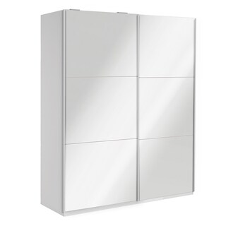 Wardrobe 78 Inch with Sliding Doors (Option: Mirror)
