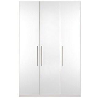Wardrobe 59 Inch with Swing Doors (White Gloss)