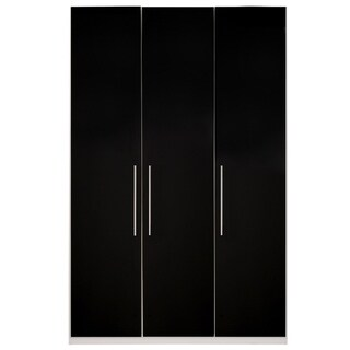 Wardrobe 59 Inch with Swing Doors (black gloss)