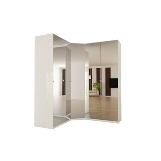 Corner Wardrobe 91 Inch with Swing Doors