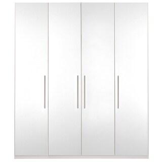 Wardrobe 78 Inch with Swing Doors (White Gloss)