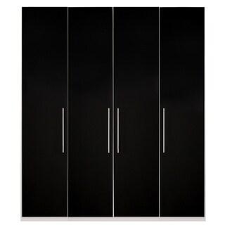 Wardrobe 78 Inch with Swing Doors (black gloss)