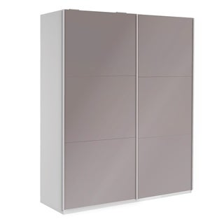 Wardrobe 78 Inch with Sliding Doors (cappuccino)
