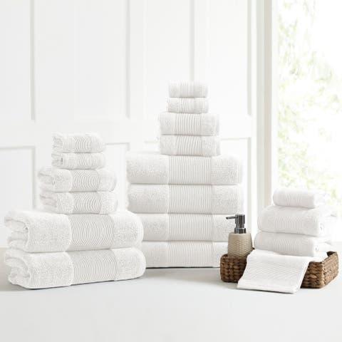 Modern Threads Air Cloud 18-Piece Bath Towel Set