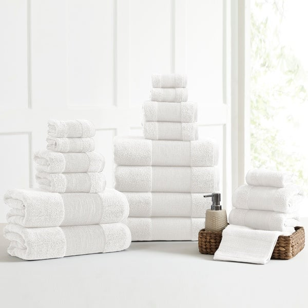 Amrapur Overseas Air Cloud 18-Piece Bath Towel Set