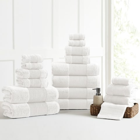Modern Threads Air Cloud 18-Piece Bath Towel Set