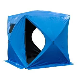 Outsunny 4 Person Insulated Pop-Up Portable Ice Fishing Shelter