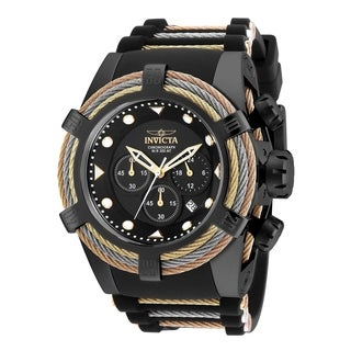 Invicta Men's 23054 'Bolt' Black and Gold-Tone Polyurethane and Stainless Steel Watch