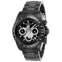 Invicta Men's 24399 'Disney' Pluto Black Stainless Steel Watch