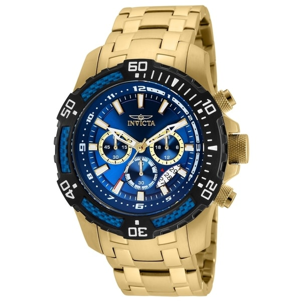 Invicta Men's 24856 'Pro Diver' Scuba Gold-Tone Stainless Steel Watch. Opens flyout.