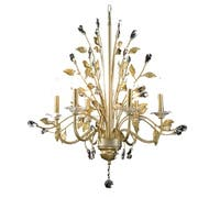 OK Lighting Gold Crystabranch Ceiling Lamp