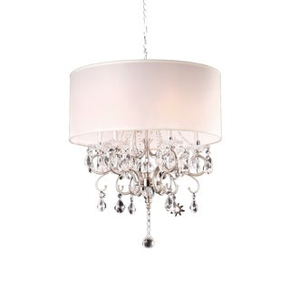 OK Lighting Crystal Silver Chandelier