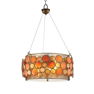 OK Lighting Capiz Shell Pendent Lamp