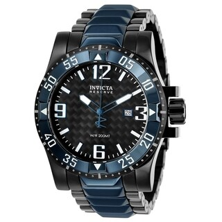 Invicta Men's 25064 'Reserve' Excursion Black and Blue Stainless Steel Watch