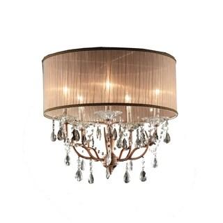 OK Lighting Rosie Crystal Ceiling Lamp