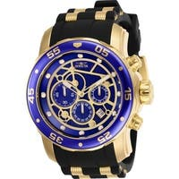 Invicta Men's 25707 'Pro Diver' Scuba Black and Gold-Tone Inserts Polyurethane and Stainless Steel Watch