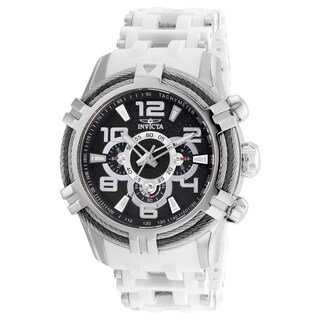 Invicta Men's 25554 'Bolt' White and Stainless Steel Inserts Polyurethane and Stainless Steel Watch