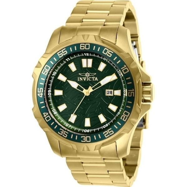 Invicta Men's 'Pro Diver' Gold-Tone Stainless Steel Watch