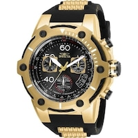 766bc3c46 Invicta Men's 'Bolt' Black and Gold-Tone Polyurethane and Stainless Steel  Watch