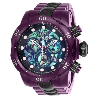 Invicta Men's 'Reserve' Venom Purple Stainless Steel Watch