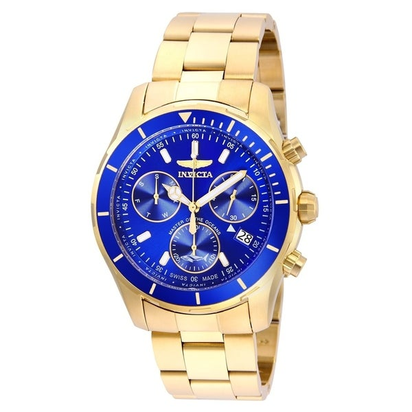 8bc422f8c Shop Invicta Men's 26056 'Pro Diver' Gold-Tone Stainless Steel Watch - Free  Shipping Today - Overstock - 22407861