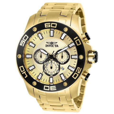 Invicta Men's 26079 'Pro Diver' Scuba Gold-Tone Stainless Steel Watch