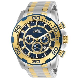 Invicta Men's 26296 'Pro Diver' Gold-Tone and Silver Stainless Steel Watch