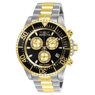 Invicta Men's 26850 'Pro Diver' Gold-Tone and Silver Stainless Steel Watch
