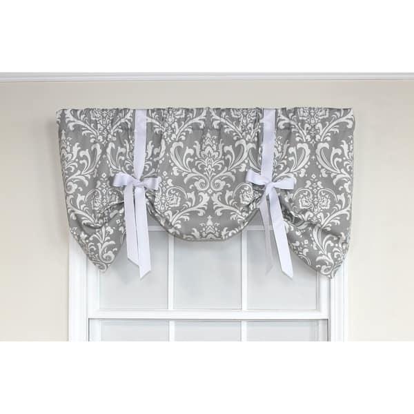 Rlf Home Ozbourne 50 Inch Window Valance Overstock 22407948