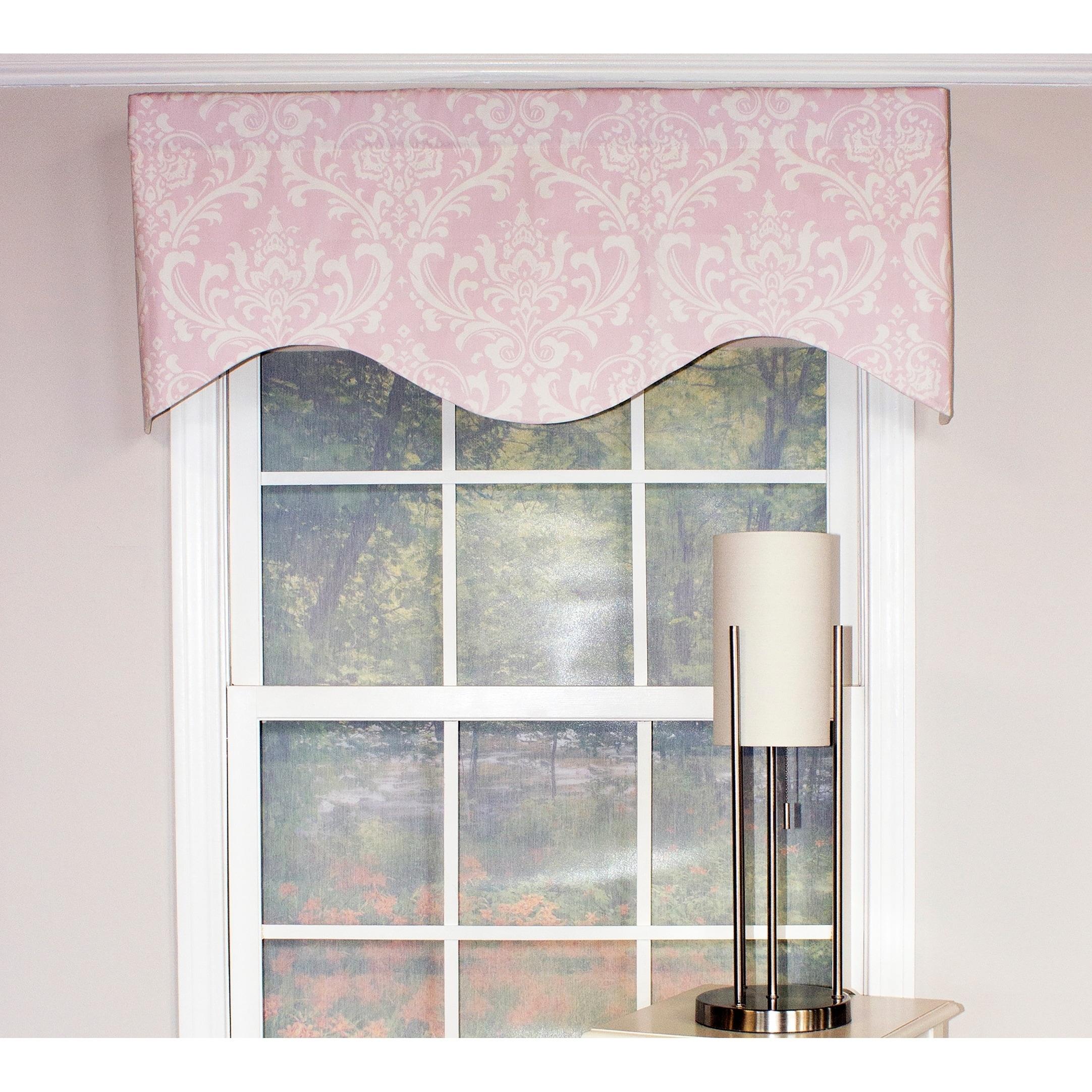 Rlf Home Ozbourne 50 Inch Window Valance Overstock 22407948 Pink Cornice