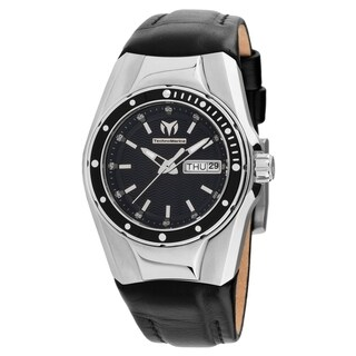 TechnoMarine Women's 'Cruise' Black Leather Watch