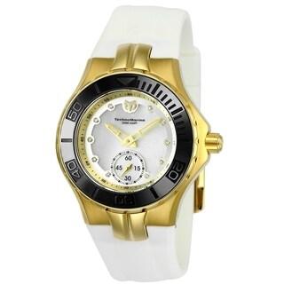 TechnoMarine Women's 'Cruise' White Silicone Watch