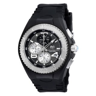 TechnoMarine Women's 'Cruise JellyFish' Chronograph Black Silicone Watch