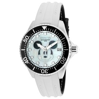 Invicta Women's 22753 'Disney' Mickey Mouse Automatic Black Silicone Watch