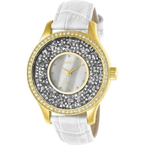Invicta Women's 24589 'Angel' White Leather Watch