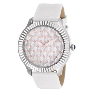 Invicta Women's 'Angel' White Leather Watch