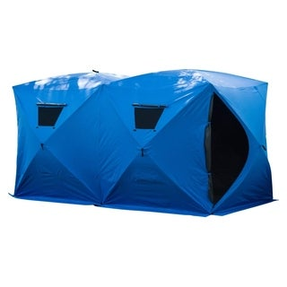 Outsunny 8 Person Insulated Pop-Up Portable Ice Fishing Shelter
