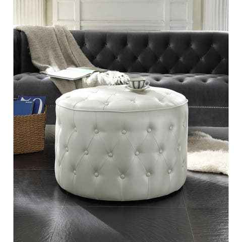 Chic Home Tosh PU Leather Upholstered Ottoman