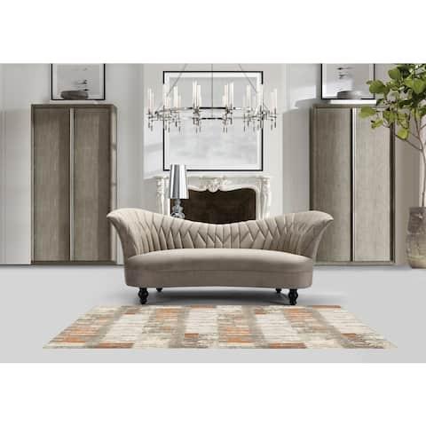 Chic Home Mont Dolent Velvet Upholstered Kidney Sofa