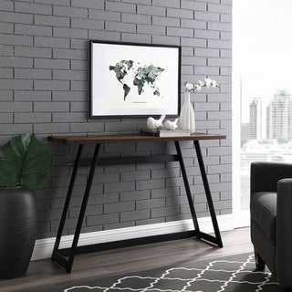 Carbon Loft Kenyon Metal Wrap Entry Table - 46 x 14 x 30h (Dark Walnut)
