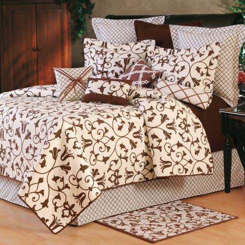 Seraphina Cotton Brown Quilt Set