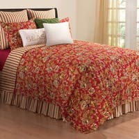 Jocelyn Red Full/Queen 3 Piece Quilt
