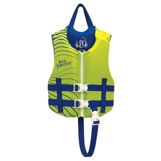 Full Throttle Child Rapid-Dry Vest, Green